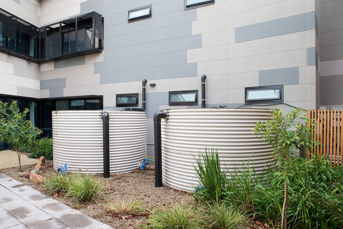 Water recycling system on the Frank Fenner Building