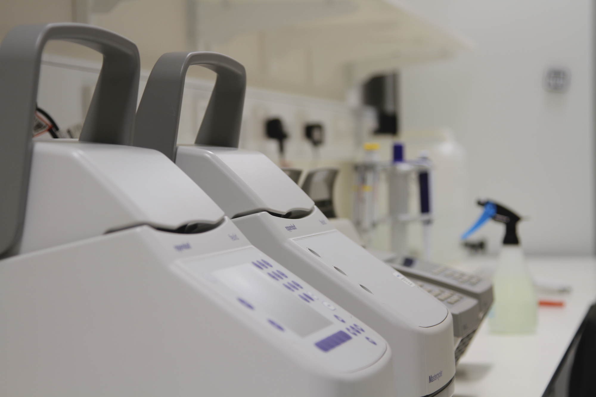 The PCR machines.