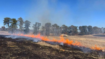 A hazard reduction burn at Majura earlier this year.