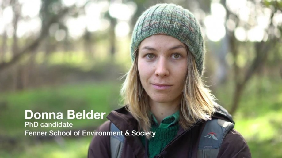 Meet Science at ANU PhD candidate Donna Belder