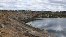 The lower reservoir of the former gold mine at Kidston.