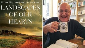Landscape of our hearts book cover and photo of Dr Matt Colloff