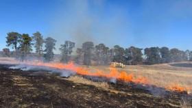 A hazard reduction burn at Majura earlier this year.